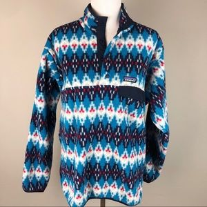 Patagonia Synchilla Fleece Snap Pullover Tribal M